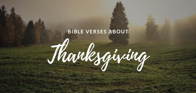 Bible Verses About Thanksgiving and Gratitude