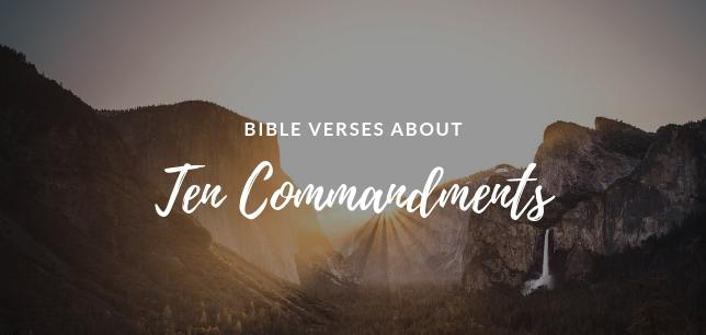 Ten Commandments of God in the Bible
