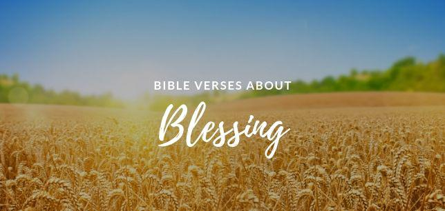 Bible Verses about Blessing